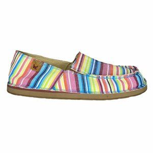 Twisted X Slip-On Fabric Casual Loafers Rainbow